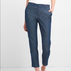 NWOT GAP Slim City Crop Pants - Dark Denim size 12